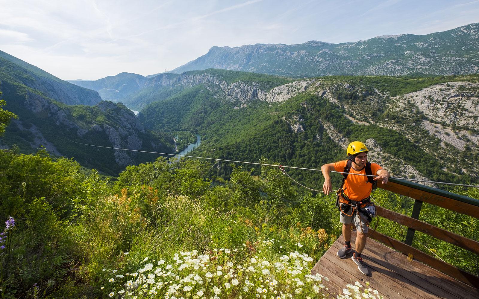 Zip Line Over Cetina River