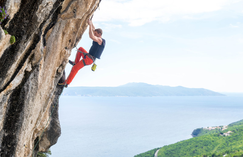 Rock climbing in Split