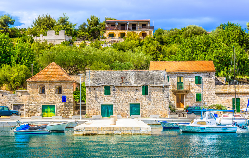 Solta island, old houses