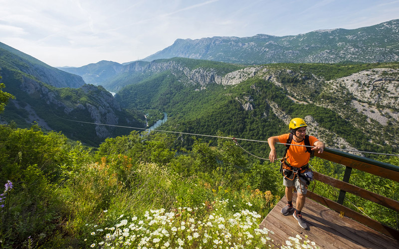 Zip Line over Cetina canyon